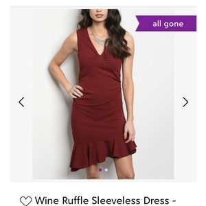 NWT Ina wine ruffle sleeveless dress